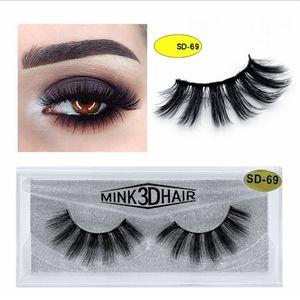 High quality Mink 3D Hair False Eyelashes Eye lashes Soft Natural Thick Eyelashes Makeup Eye Lashes Extension Beauty Tools 20 styles