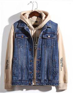 Denim Coletes Designer solto Light Blue Mens Coats Casual Masculino Outerwears Com Único Breasted Mais de Mens Tamanho