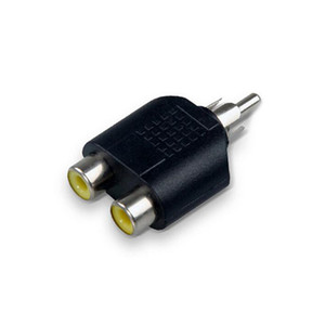 Converter RCA Male to 2RCA Female Y-Splitter Plug Adapter for AV Audio 1 Male to 2 Female Extender Connector