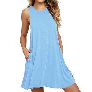 Mode chaude frontière transfrontalière Sources de vêtements pour femmes explosives Eté Nouveau gilet pur robes bien vendre des robes