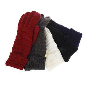 2018 neue Winter warm Männer Frauen Teenager Wolle stricken volle Fingerhandschuhe häkeln Touchscreen Handschuhe 5 Farben