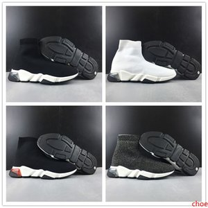 2019 Paris Triple S 17FW Sock Shoes Fashion Black White Grey Red Luxury Fly Knitting Designer Mens Women Sports Casual Shoes