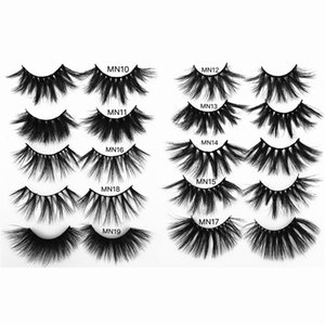 25MM 3D Mink Lashes Reusable 25mm Lashes Free Private Label Mink Lashes Thick Dramatic 25mm Eyelashes