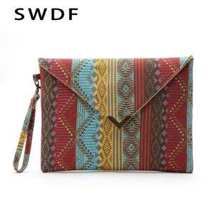 SWDF-2019 Sacos de Noite Sacos de Bolsas Mulheres Nacionais Saco SAC Embreagens Senhoras Geométricas SAC a Principal Bolsa feminina Bolsa de Embreagem