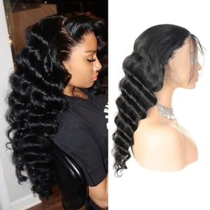 Pelucas de cabello humano de encaje completo de encaje de encaje con cordones peruanos peruanos Pelucas frontales de encaje de pelo peruano peruano Malasia 360 pelucas frontales de encaje