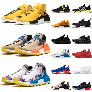 Adidas 2019 Pharrell Williams Human Race NMD R1 Top Fashion Human Race Hombres Mujeres Tenis Zapatos para correr Amarillo Japón Blanco Solar Pack Madre Diseñador Transpirable