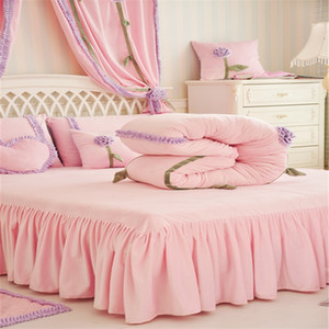 4Pcs new Thickened velvet Princess style bedding sets queen king size duvet cover set bed skirt set pillowcase bedclothes