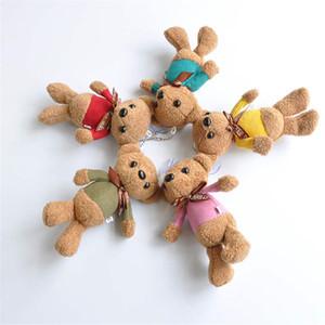 10CM Mini oso de peluche de felpa rellena Juguetes regalos lindos osos de peluche blanco colgante muñecas boda del cumpleaños del partido de la decoración