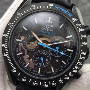 Морской конек серии механические автоматические бренд кожа роскошные мужские часы высокое качество мода мужской спортивные часы мужчины платье часы подарки