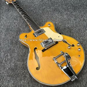 Hochwertiger Jazz E-Gitarre hohle E-Gitarre, Groß Rocker Doppel schüttelt Tremolo-System