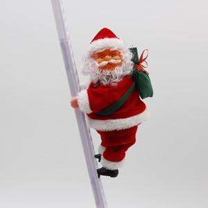 Yeni Stil Noel Baba elektrikli merdiven Noel Baba yaratıcı peluş Noel Baba bebek oyuncakları dekorasyonlar