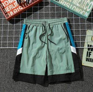 Mens Designer Summer Shorts Pants Fashion 2 Colors Letter Printed Drawstring Shorts 2019 Relaxed Homme Luxury Sports Sweatpants wholesale