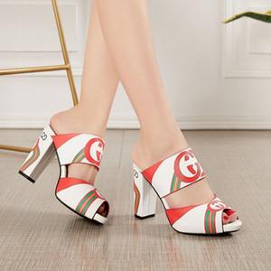 Superficie 40 Tacchi cinghia della caviglia Donna Sandali 2020 estate Scarpe Donna Open Toe Chunky tacchi alti del partito del vestito sandali Altezza tacco 9,5 centimetri
