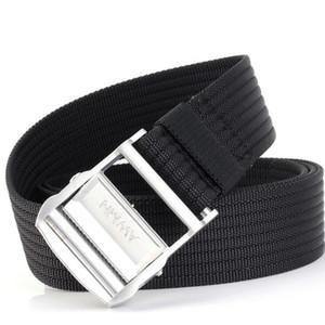 Mode Schwarz-Weiß-gelbe Gürtel für Herren-Gürtel Designer Gürtel Leinwand Gürtel Leder Geschäft Gürtel Frauen Freies Verschiffen