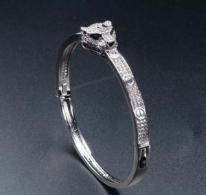 Animal Diamond Bangle Female Leopard Head Bangles Women Vintage Charms Valentine'S Day Fine Jewelry On Sale designer bracelet sterling silve