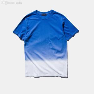 Wholesale-2016 Nuovo unisex Harajuku urbano abbigliamento T-shirt tie-dye colorate graduali Tshirt divertenti maglietta 100% del T del cotone per uomini e donne