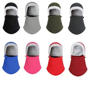 2019 nuevo estilo caliente de la manera invierno Fleece Beanie sombrero de la bufanda caliente del pasamontañas de esquí Snow Cap ocasional del remiendo de las mujeres
