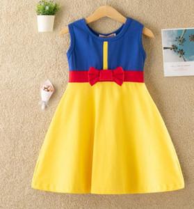 Estate Abiti Piccola principessa delle ragazze dei bambini del fumetto principessa Kids Dress vestiti casuali Kid viaggio Frocks Costume Party GGA3497-1