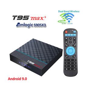 Т95 максимум плюс Android-ТВ коробка 9.0 встроенный S905X3 2.4 Г/5 ГГц беспроводной БТ 8K умная установленной верхней коробки против М Плюс