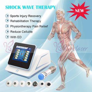 HOT! 200mj Onda de choque équipement de thérapie à ondes de choc de faible puissance / machine à ondes de choc acoustiques pour machine de traitement ED avec 7 émetteurs