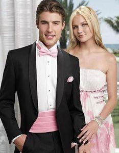 Custom Black Long coat Custom Made Mens Suits Wedding Groom Slim Fit Smart Casual Wedding Prom Best Man Blazer 2 Pieces (Jacket+Pants) D77