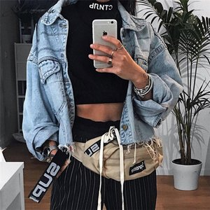 Macheda Abrigos básicos para mujer Primavera y otoño Chaqueta vaquera para mujer 2018 Manga larga suelta Mujer Jeans Abrigo Casual Niñas Outwear Y190830