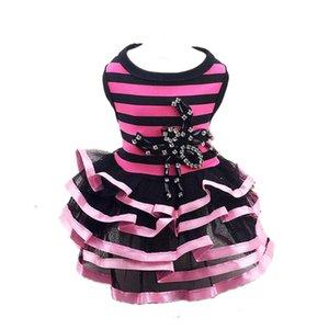 소 중 개 그린 로즈 - 빨강 도매를위한 새로운 개 의류 애완 동물 의류 강아지 드레스 패션 스트라이프 스파이더 드레스