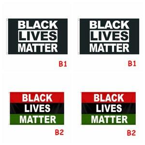 90 * 150см ЧЕРНЫЙ ЖИВЕТ ВЕЩЕСТВА флаг я не ДЫШАТЬ Флаг Черный Черный Американский Lives Matter Баннер Флаги CCA12229 20шт
