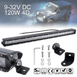 24 polegadas 120w 4d Hetero Led Driving Light Lamp 24x Combo Feixe de trabalho Luzes Offroad Lâmpada de Trabalho Bar Para Truck Suv Atv Clt _42v