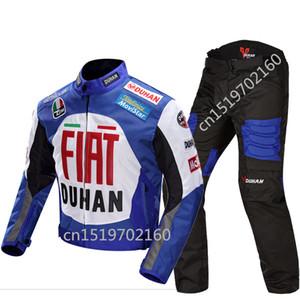 600D Oxford kapalı yol motosiklet ceket DUHAN profesyonel Moto yarış ceketler motosiklet sürme giysi + pantolon Ücretsiz sh
