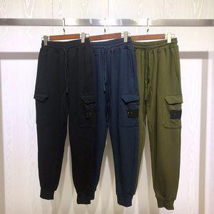 Erkek Stilist Koşu Pantolon Moda Yüksek Kalite Işın Ayak Pantolon Katı Renk Mens Stilist Pantolon Siyah Mavi Yeşil