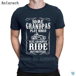 Motorcycles Mens Some Grandpas Play Bingo T-Shirt Gift Short Sleeve Character Male Tshirt For Men Humor Normal Sunlight Family