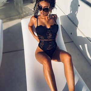 Satin Patchwork Hollow Out Lace Bodysuit 2020 Body Femme Sexy Jumpsuit For Women Skinny Bodysuits Teddies Hot