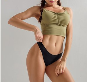 New sexy seamless seamless fitness thong one-piece invisible low waist sports underwear female thin section trendy fashion underwear