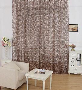 Nouvelle arrivée Pivoine Motif fenêtre Rideau Valance Voile Rideaux européennes dentelle filles rideaux de la chambre traitements Drapés un panneau