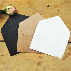 20pcs lot Black White Craft Paper Envelopes Vintage European Style Envelope For Card Scrapbooking Gift Stationery For Letter