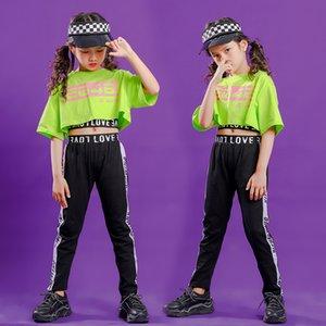 7 Дети Hip Hop Одежда Детские танцы костюм для девочек Джаз танец Бальные Concert Stage Outfit Streetwear