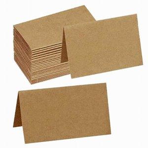 DIY Foldover Cards Business Card Holder Folded Kraft Paper Card Ornaments Kraft Paper Postcard Greeting Gift Card