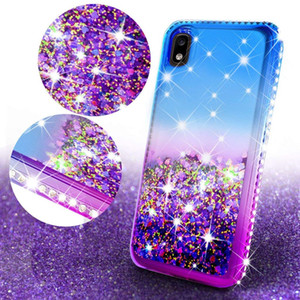Per LG Aristo 5 Case Cover telefono Stylo 6 5 K40 Aristo 3 Acqua Diamante Glitter Liquid Floating Quicksand 4 Plus K31 K51