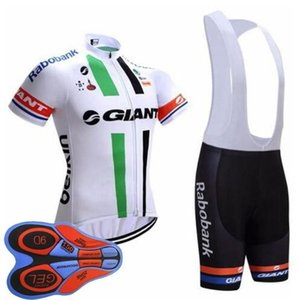 2020 Wholesale -giant Cycling Team Jersey Manches courtes (BIB) ensembles de shorts 9d Gel Pad Top Marque Qualité Bike Sportwear D1627