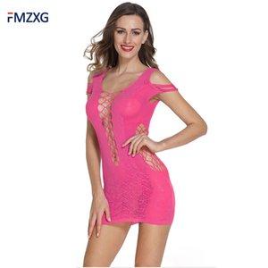 FMZXG 2018 Petticoat Kadın Seksi Delik dışarı İç Erotik Bayanlar Petticoats jüpon Femme Hortum Tam Fiş pijamalar Artı Boyutu Firar