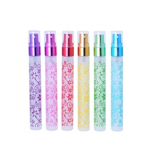 Multi Couleur 10ml Impression Unique 6 Couleurs Mini Atomizer Verre Spray Bouteilles De Parfum Voyage Petit Parfum Vaporisateur LX7693