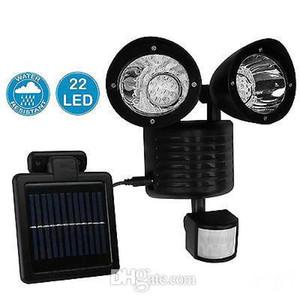 22 LED Solar Power Street Light PIR sensore di movimento luce Garden Security Lamp Outdoor Street impermeabile applique da parete