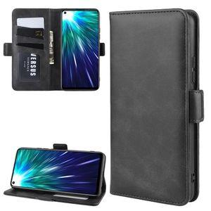 Para Vivo Z5x / Z1 Pro Duplo Buckle Crazy Horse Negócios Mobile Phone Holster com função de cartão da carteira Bracket