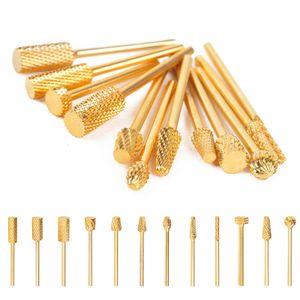 12 Типы Nail Drill Carbide Bit High Quality Golden Electric Nail Drill File Carbide Bits Nail Art Маникюр Педикюр Tool