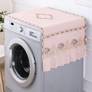 Cloth Tampa prova decorativa Rosa Lace Household poeira para Freezer / pano de tabela / Blackout Curtain