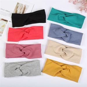 Factory direct high quality Korean cross-tricoted headband Xuanya cute headband hair accessories net red stried headband