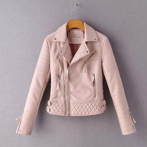 New Autumn Women Punk Style Black Faux Soft Leather Jacket Casual Female Pu Motorcycle Biker Streetwear Zipper Coat