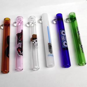 Heady Glass Pipe Glass Steamroller Taster Hand Pipe Tubi tascabili all'ingrosso per fumatori Tabacchi da pipa Narghilè In magazzino Spedizione gratuita