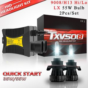 9008 H13 Hi Li 110W Bi Xenon HID Projector Headlights Conversion Kit 2Pcs 35W 55W Bixenon Lamps Ballasts 4300K 10000K12000K Beam